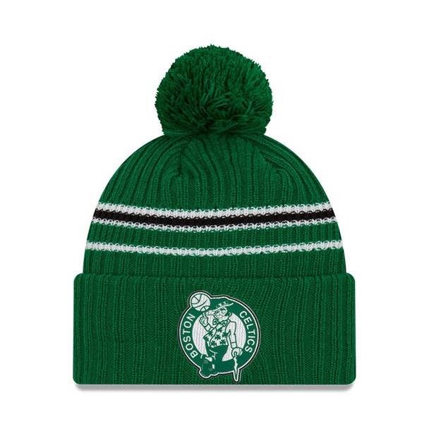 NEW ERA basketball boston celtics NBA back half knit cuff bobble hat [green]