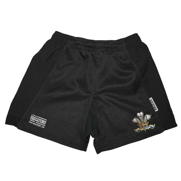 EGGCATCHER wales performance training rugby shorts [black]