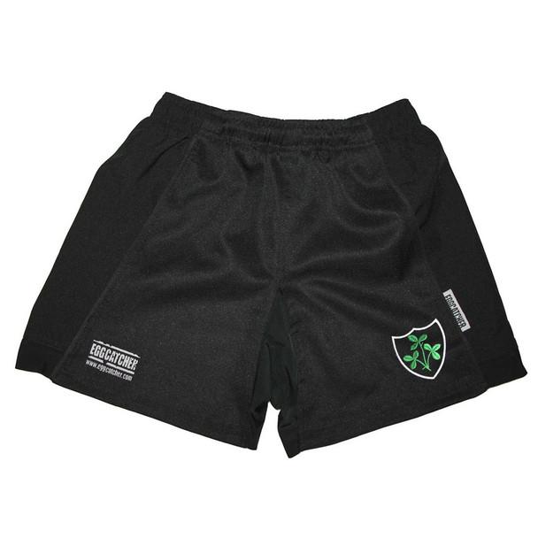 EGGCATCHER ireland performance training rugby shorts [black]