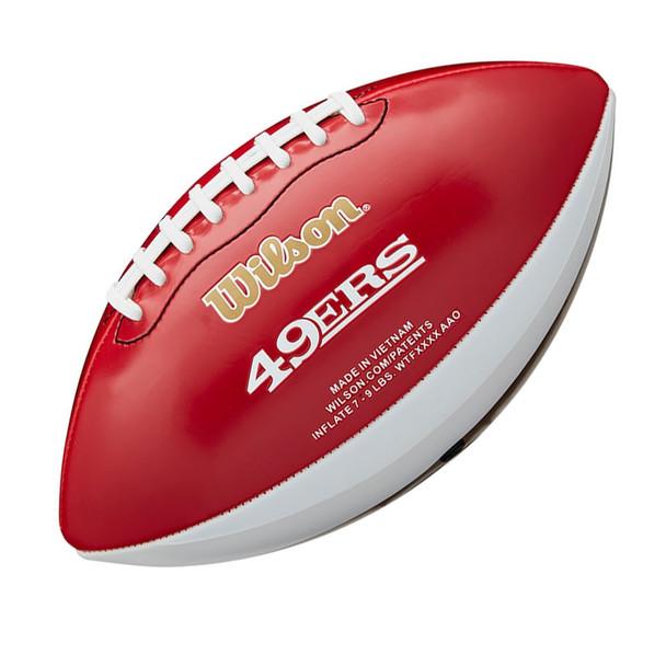WILSON NFL san francisco 49ers peewee [25cm] debossed american football