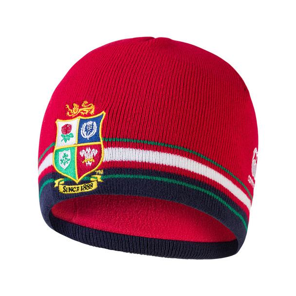 CCC british and irish lions rugby acrylic fleece lined beanie hat [red]