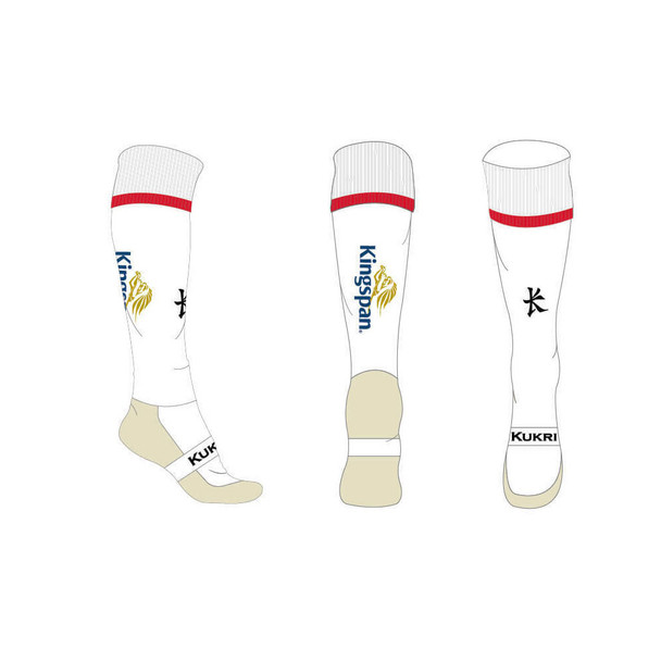Kukri ulster players home rugby socks 7-11 UK [white]