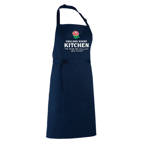 ENGLAND RUGBY chefs kitchen / barbeque apron [navy]