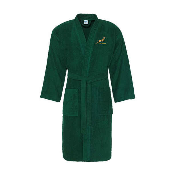 SOUTH AFRICA rugby cotton bath robe / dressing gown [green]