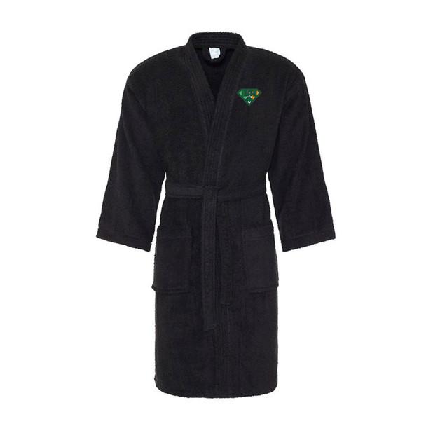 IRISH superhero cotton bath robe / dressing gown [black]