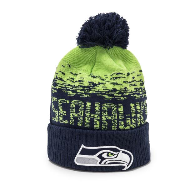NEW ERA seattle seahawks NFL sport knit hat [navy/green]