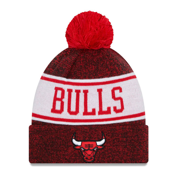 NEW ERA chicago bulls NBA cuffed knit hat [red]