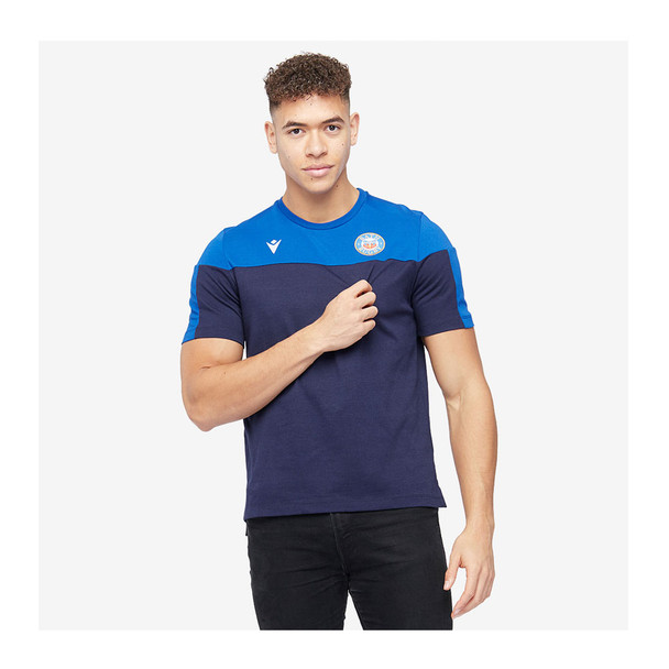 MACRON bath rugby 20/21 player's travel cotton t-shirt [blue]