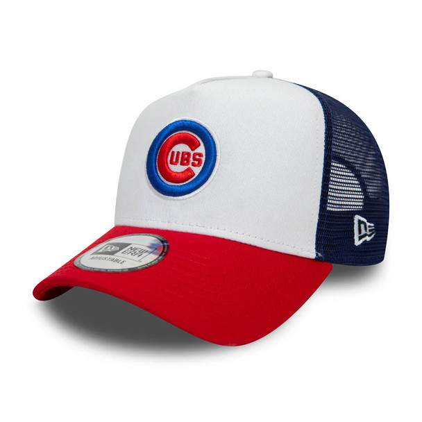 NEW ERA chicago cubs MLB 9forty A-frame trucker cap [white/red/navy]