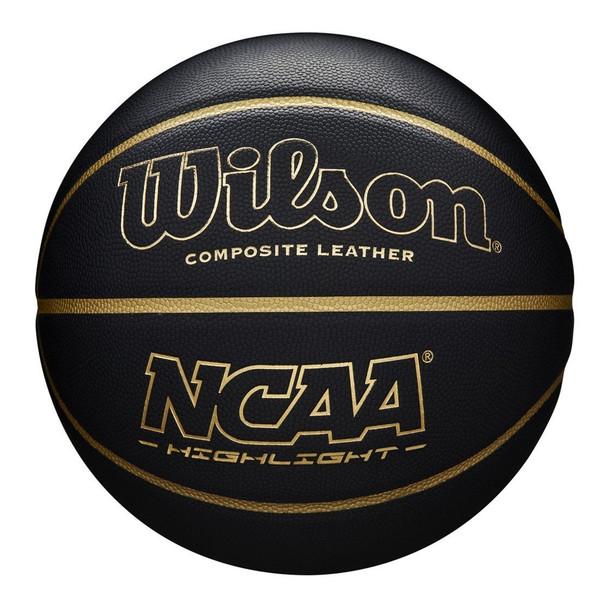 WILSON highlight NCAA basketball [black/gold] - size 7