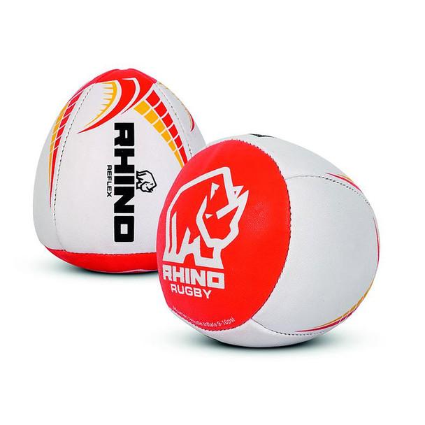 RHINO Training Reflex Rugby Ball [red/yellow/white]