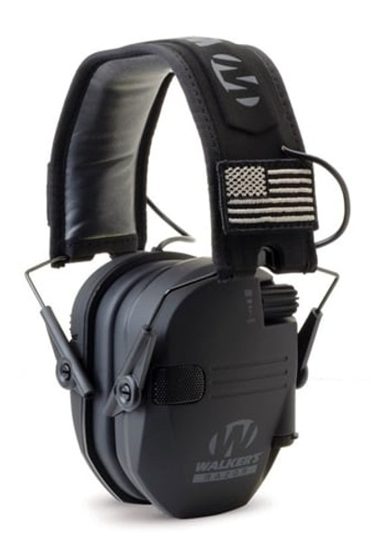 Walker's Razor Slim Patriot Series Electronic Earmuff - Black