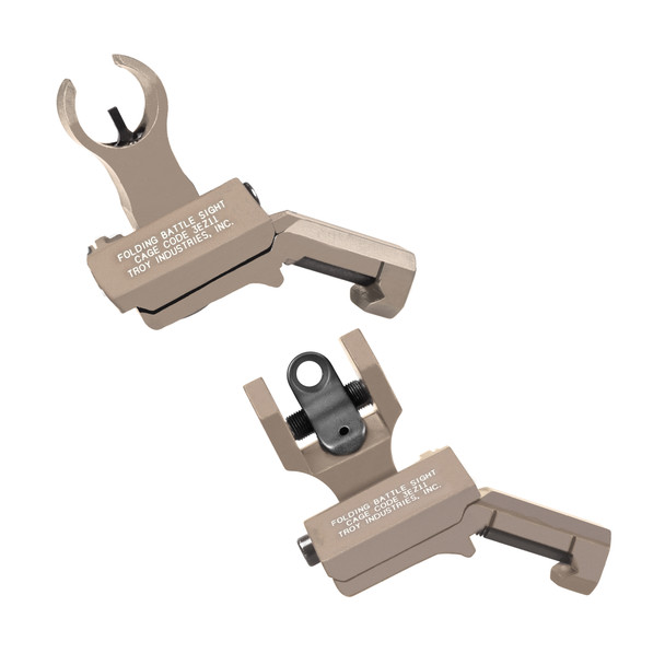 Troy Offset Sight Set, HK Front and Round Rear -FDE
