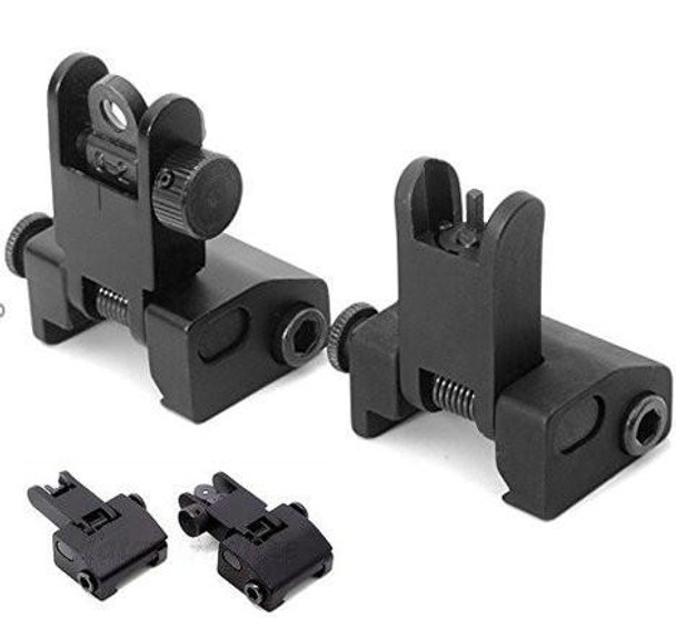 Flip-Up Front & Rear Iron Sight Set for Picatinny Rail
