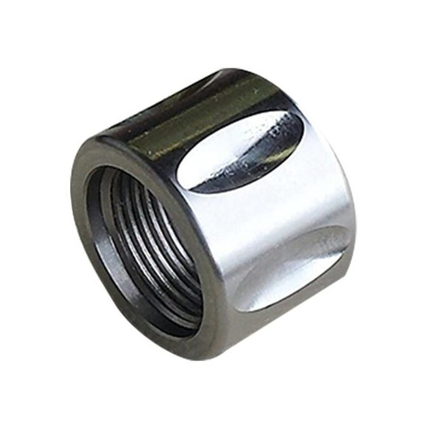 .578 x 28  Stainless Steel Fluted Thread Protector