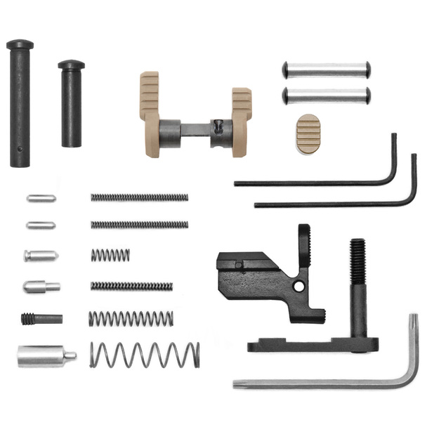 Armaspec Gun Builder's LPK less FCG & Grip for AR10 - FDE