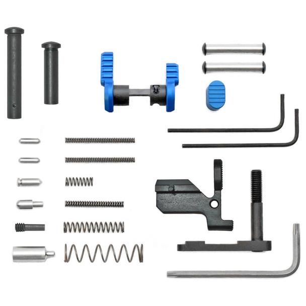 Armaspec Gun Builder's LPK less FCG & Grip for AR10 - Blue