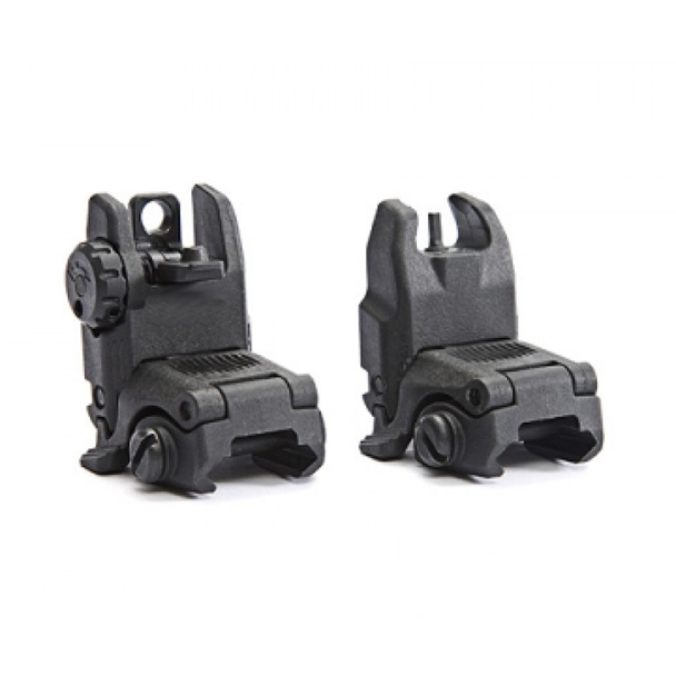 Tactical Folding Polymer Sight Tower Set Front and Rear BUIS Combo