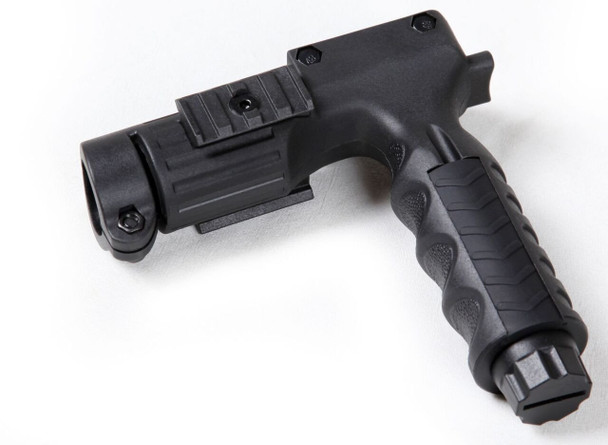"""Fore Grip with Dual Rail and 1"""" Flashlight Holder"""