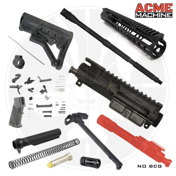 "16"" M4 5.56 Rifle Build Kit NO BCG - Minus Lower"