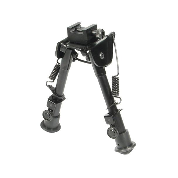 "Adjustable Bipod 9-12"" Folding Swivel Stud Mount Rubber Feet - Picatinny Mount"