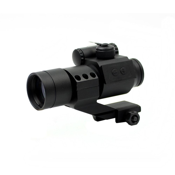 1x28 HD-30 Red Dot w/ Red Laser & Cantilever Mount
