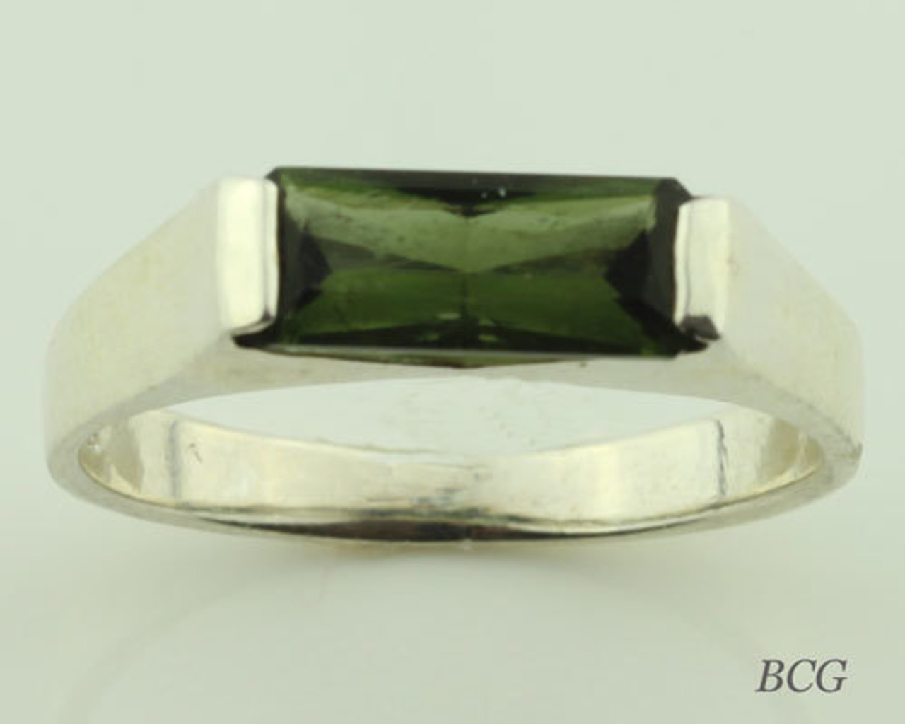 Moldavite Men's Rings
