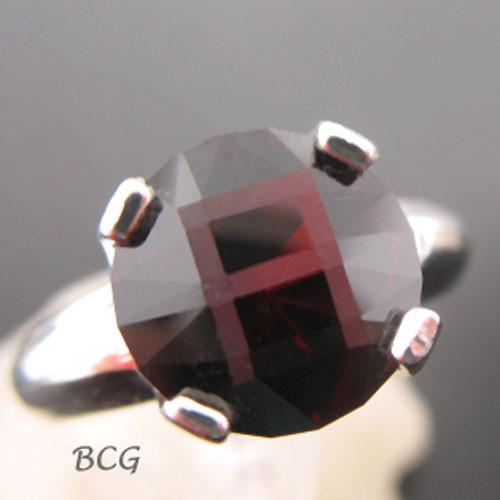 """""""A"""" Initial Malaya Garnet Ring #GRI-1851"""
