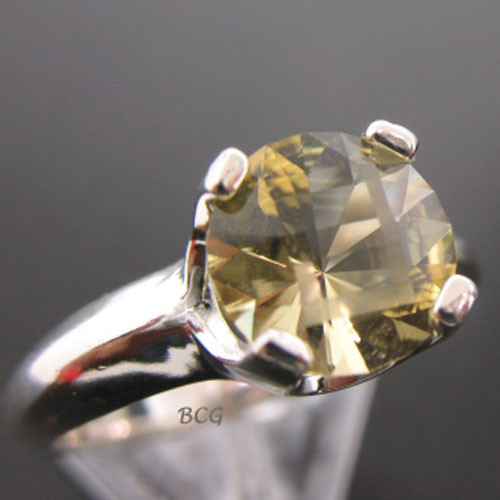 """J"" Initial Champagne Labradorite Ring #GRI-1853"