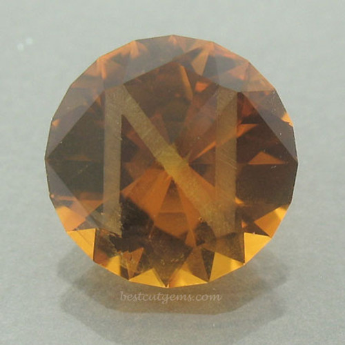 """N"" Initial Madeira Citrine"