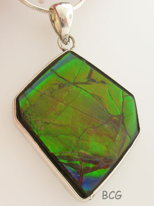 Genuine Natural Ammolite Necklace #1697