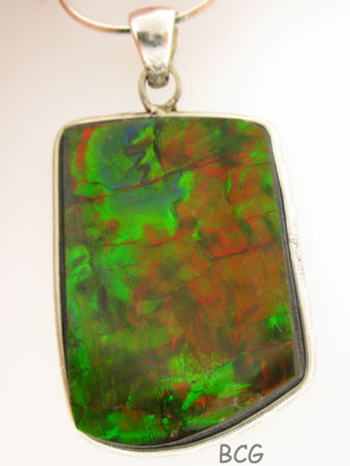 Genuine Natural Ammolite Necklace #1698