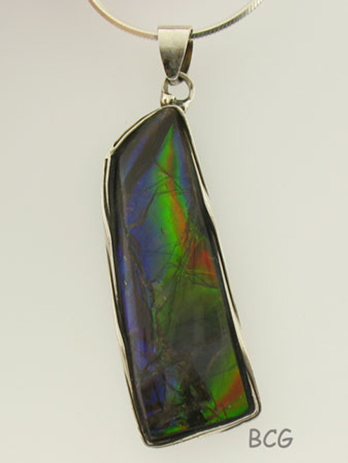Genuine Natural Ammolite Necklace #1699
