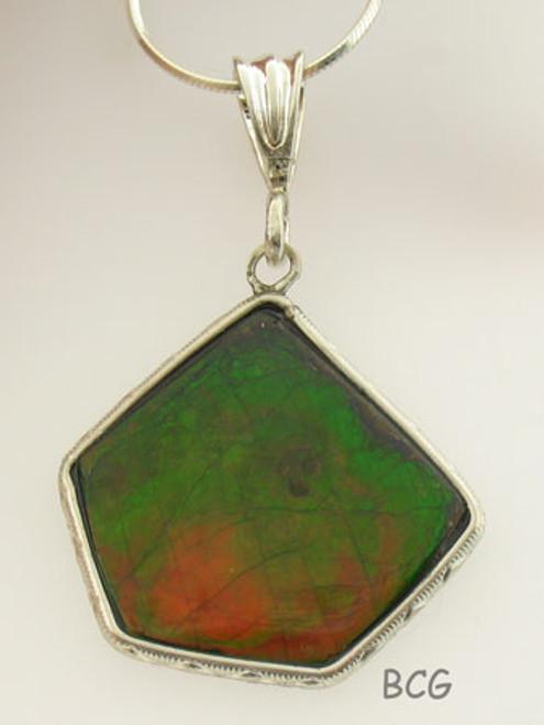 Genuine Natural Ammolite Necklace #1701