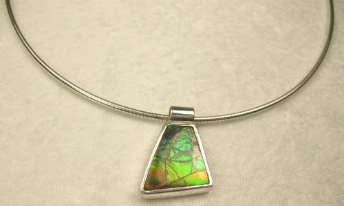 Genuine Natural Ammolite Necklace #5018