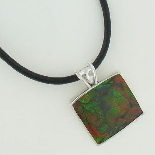 Genuine Natural Ammolite Necklace #5023