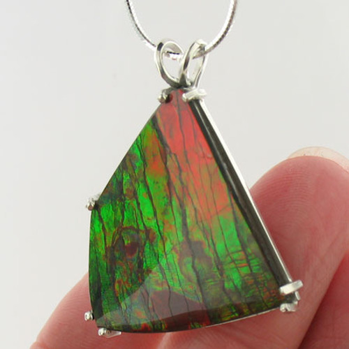 Genuine Natural Ammolite Necklace #5027