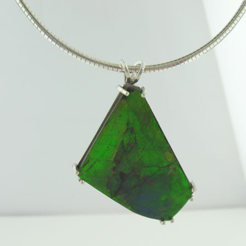 Genuine Natural Ammolite Necklace #5029