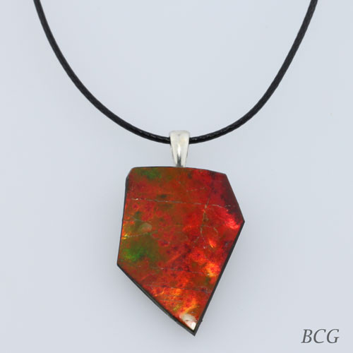 Genuine Natural Ammolite Necklace #P-011