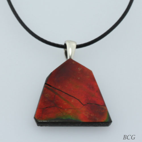 Genuine Natural Ammolite Necklace #P-012