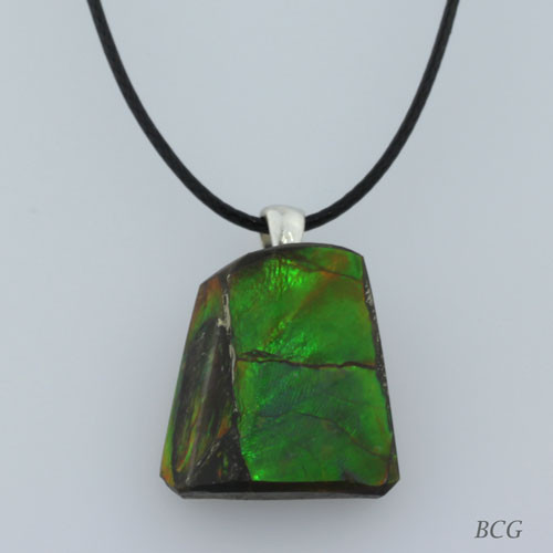 Genuine Natural Ammolite Necklace #P-013