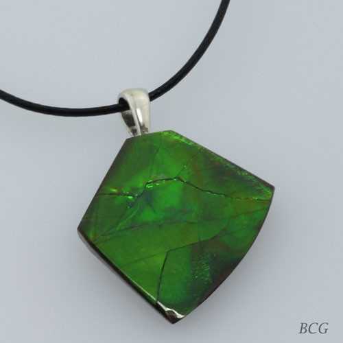 Genuine Natural Ammolite Necklace #P-015