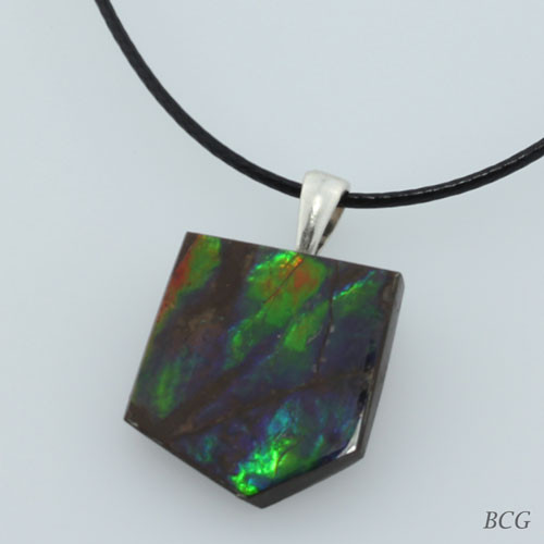 Genuine Natural Ammolite Pendant #P-016