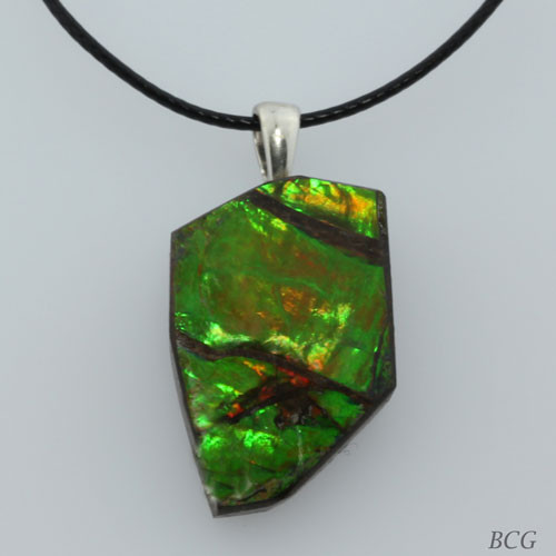 Genuine Natural Ammolite Pendant #P-017
