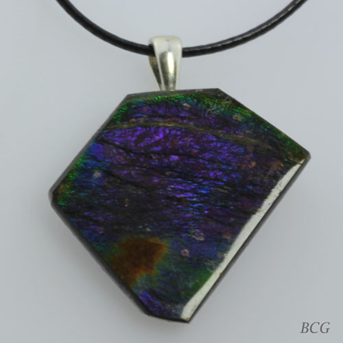 Genuine Natural Ammolite Pendant #P-018