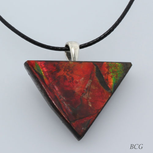Genuine Natural Ammolite Necklace #P-019
