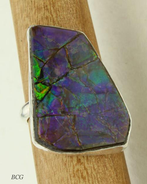 Genuine Ammolite Ring