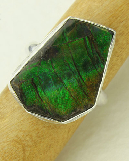 Genuine Ammolite Ring #RI-310