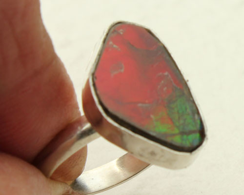 Genuine Ammolite Ring #RI-311