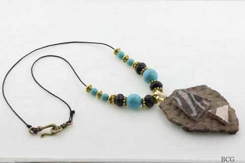 ANCIENT ANASAZI POTTERY SHARDS NECKLACE #4001